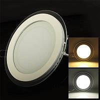 Светодиодный светильник SL 18Вт (круг,квадрат) Стекло, фото 1