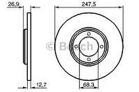 Тормозной диск передний Bosch 986478071 для Ford Escort Ii (Ath) 12.1974-08.1980