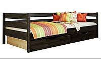 Кровать Нота тм Эстелла 90х190/200, цвет №106 Венге, Фасад+ящики ДСП (Щит)