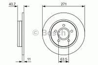 Тормозной диск задний Bosch 986479763 для Ford Focus Iii 07.2010+