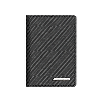 Кожаный футляр для автодокументов и кредиток Mercedes-Benz Leather Vehicle documents wallet, AMG, Carbon Look