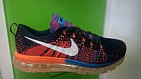 Мужские кроссовки Nike air max flyknit синий -коралл, размеры с 41 по 45