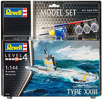 Model Set Подводная лодка German Submarine TYPE XXIII, 1:144, Revell