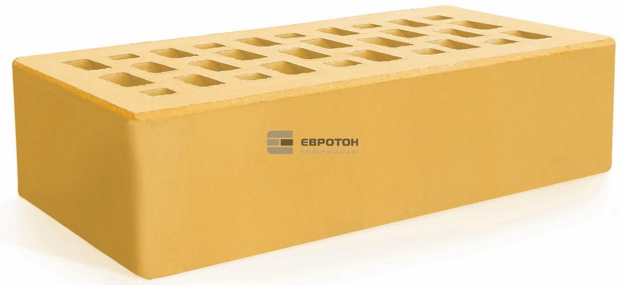 Кирпич облицовочный ЕВРОТОН желтый