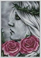 """Схема для вышивания """" в розах """""""