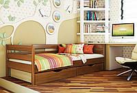 Кровать Нота тм Эстелла 90х190/200, цвет №103 Светлый орех, Фасад+ящики ДСП (Массив)