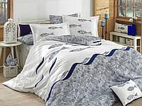 Комплект постельного белья HOBBY Poplin Blues голубой евро комплект