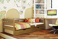 Кровать Нота тм Эстелла 90х190/200, цвет №105 Ольха, Фасад+ящики ДСП (Массив)