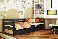 Кровать Нота тм Эстелла 90х190/200, цвет №106 Венге, Фасад+ящики ДСП (Массив)