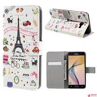 Чехол Книжка Для Samsung Galaxy J5 Prime (Париж)