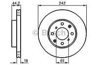 Тормозной диск передний Bosch 986478503 для Honda Civic Iv Седан (Ed) 01.1988-12.1989