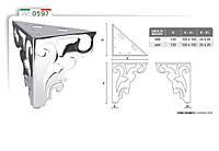 Ножка меблева металева фігурна DV Art. 0597