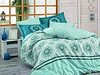 Комплект постельного белья HOBBY Silvana голубой евро комплект