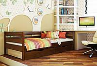 Кровать Нота тм Эстелла 90х190/200, цвет №108 Каштан, Фасад+ящики ДСП (Массив)