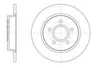 Тормозной диск задний Roadhouse RH 61503.00 для Ford Focus Iii 07.2010+