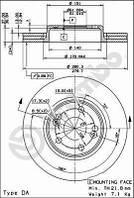 Тормозной диск передний Brembo 09.8137.14 для Renault Espace Iii (Je0) 11.1996-10.1998