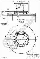 Тормозной диск передний Brembo 09.5577.10 для Isuzu Campo (Kb) 01.1989-12.1990