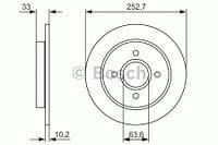 Тормозной диск задний Bosch 986479859 для Ford Focus Седан (Dfw) 02.1999-11.2004
