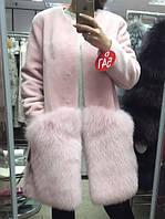 Пальто из натурального меха, норка KOPENHAGEN коротковорстная + песец  , фото 1