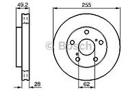 Тормозной диск передний Bosch 986478726 для Toyota Camry (Cv1, Xv1, V1) 06.1991-08.1996
