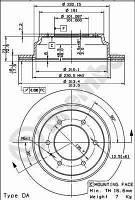 Тормозной диск задний Brembo 09.7377.10 для Isuzu Trooper 04.2000+