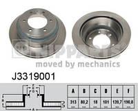 Тормозной диск задний Nipparts J3319001 для Isuzu Trooper 04.2000+