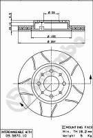 Тормозной диск передний Brembo 09.5870.75 для Fiat Siena (172) 11.2007+
