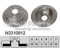 Тормозной диск задний Nipparts N3310912 для Daewoo Tosca 02.2006+