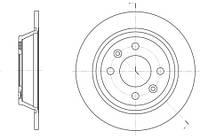 Тормозной диск задний Roadhouse RH 6195.00 для Saab 900 I (Ac4, Am4) 01.1986-12.1988