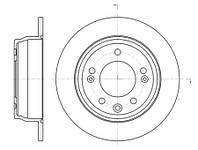 Тормозной диск задний Roadhouse RH 61105.00 для Kia Cee'D Sw (Ed) 09.2007-12.2012