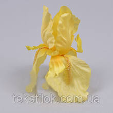 Головки Ириса 13 см желтая Цветы искусственные