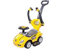 Машинка каталка-толокар с родительской ручкой Sun Baby Mega Car