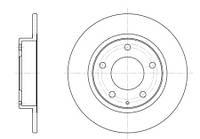 Тормозной диск задний Roadhouse RH 6206.00 для Ford Usa Probe Ii (Ecp) 12.1994-03.1998