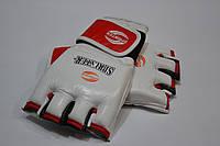Перчатки для рукопашного боя. Материал кожа. L белый.