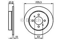 Тормозной диск задний Bosch 986479237 для Mitsubishi Carisma (Da) 05.1997-06.2006
