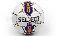 Мяч футбольный. М'яч футбольний Сшит вручную BRILLANT SUPER белый-синий-оранжевый (№5, 5 сл.)