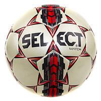 Мяч футбольный. М'яч футбольний. №5 SELECT MATCH (белый-серый-красный)