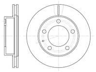 Тормозной диск передний Roadhouse RH 6203.10 для Ford Usa Probe Ii (Ecp) 12.1994-03.1998