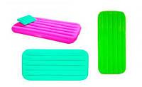 Матрас велюр, 157х88х18 см. + подушка, з цвета в кор. 66801 INTEX Китай