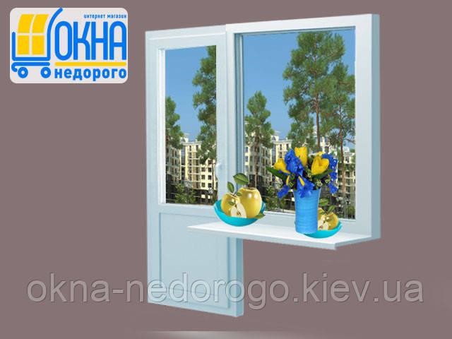 Балконный блок wds 500 с окном 1100х1350