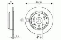 Тормозной диск задний Bosch 986479A91 для Honda Stepwgn (Dba-Rg) 10.2005-09.2009
