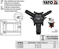 Калибратор тройник труб PEX-AL-PEX PERT-AL-PERT Ø=16, 20, 25 мм YATO Польща YT-22373