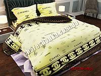 """Евро набор постельного белья Бязь """"Gold"""" №298"""