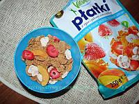 Завтрак рисово-пшеничный Vitanella Platki с клубникой и мореллой 250 гр