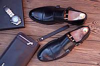 Мужские  кожаные туфли монки Calif, made in Poland.