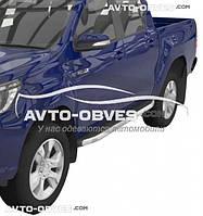 Подножки боковые профильные Toyota Hilux 2015-... стиль RangeRover Sport