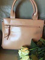 Стильная женская сумка Celine материал натуральная кожа, с длинной ручкой. Цвет бежевый