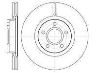 Тормозной диск передний Roadhouse RH 6711.10 для Ford Focus Iii 07.2010+