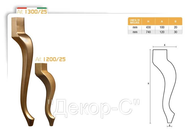 Ножка меблева фігурна букова DV Art. 1300/25
