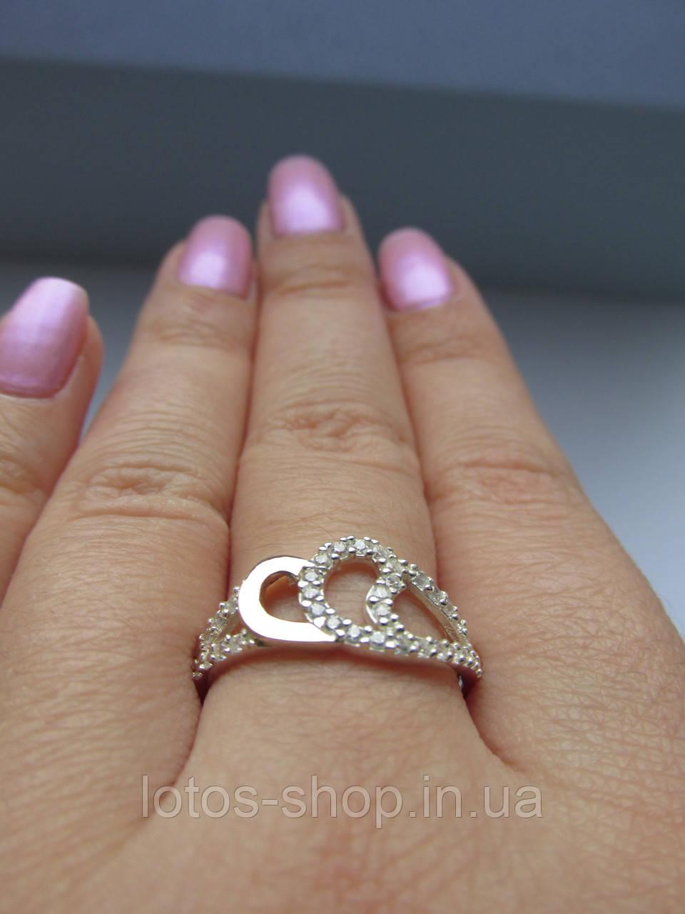 """Серебряное кольцо с золотыми накладками""""Мистик"""""""